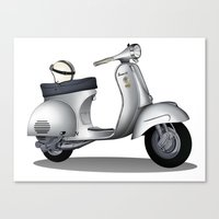 My faith, my voice, vespa my choice ! Canvas Print