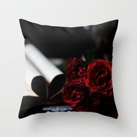 My Love Is Like A Red, R… Throw Pillow