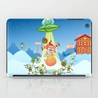 Santa Claus Abducted by a UFO just before Christmas iPad Case