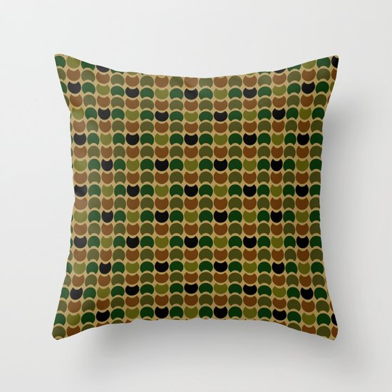 HobNob Camo Multi Throw Pillow