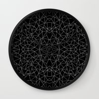 Abstract Collide Outline… Wall Clock