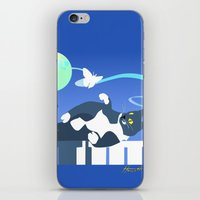 Jack Cat And The Moth iPhone & iPod Skin