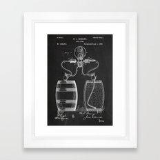 Beer Pump. Patent Framed Art Print