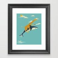 Framed Art Print featuring Onward! by Jay Fleck