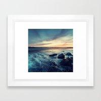 Sunset on the Breakwater Framed Art Print