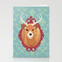 deer head Stationery Cards