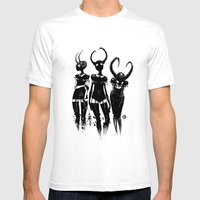3 Horned Girls Mens Fitted Tee White SMALL