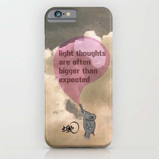 light thoughts are often bigger than expected iPhone & iPod Case