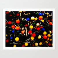 Art Print featuring On Pins and Needles by morningowl