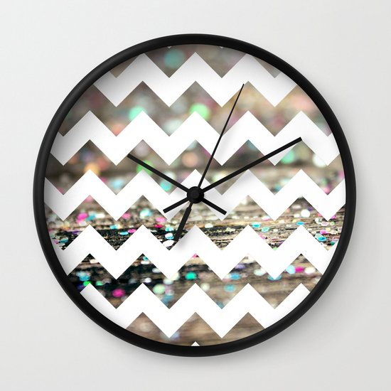 Afterparty Chevron Wall Clock
