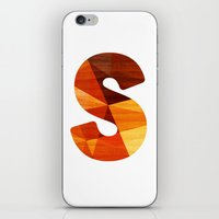 Letter S - Initial Wood Alphabet iPhone & iPod Skin