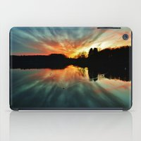 Magical evening at the lake iPad Case