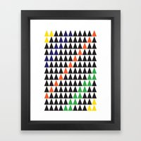 Graphic Triangle Framed Art Print