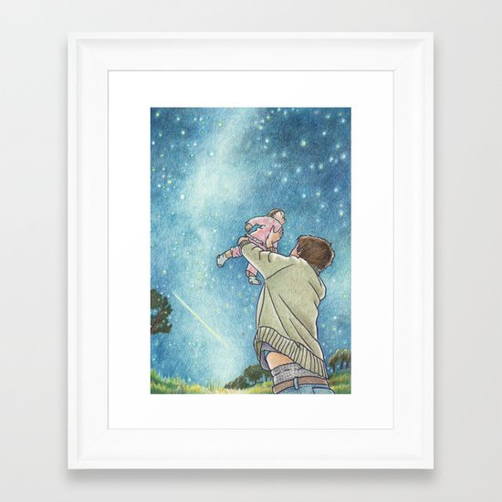 May your future twinkle Framed Art Print