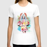Cancer Womens Fitted Tee White SMALL