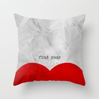find your half (1 of 2 parts)  Throw Pillow