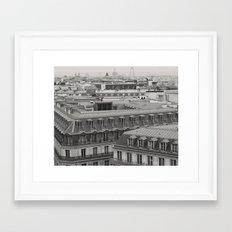 Paris, inspiring rooftops (black and white) Framed Art Print