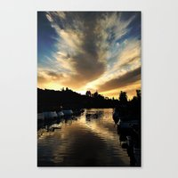 Black And Gold Canvas Print