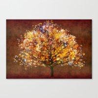 Starry tree Canvas Print