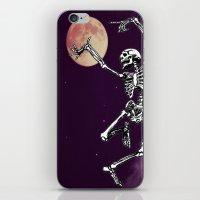 Skeleton & Moon iPhone & iPod Skin