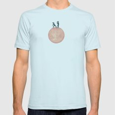 bayside high Mens Fitted Tee Light Blue SMALL