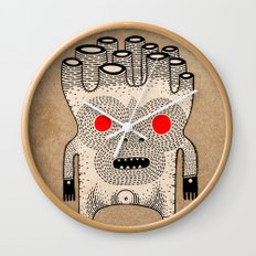 cardboard man Wall Clock