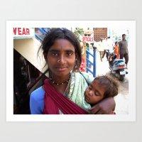 Indian Poor Woman Art Print