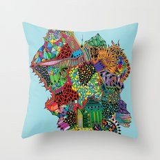 Crystalised Colour Throw Pillow