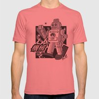 Vintage Robot Mens Fitted Tee Pomegranate SMALL