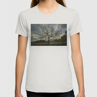 Tree Womens Fitted Tee Silver SMALL