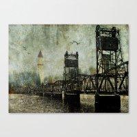 Beyond the Bridge Canvas Print