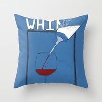Whine To Wine Throw Pillow