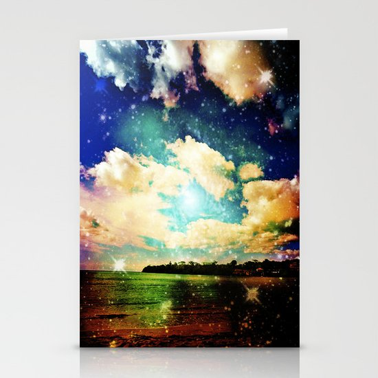 Far Out Beach Stationery Card