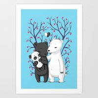 Bear Family Art Print