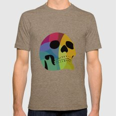 Skull Mens Fitted Tee Tri-Coffee SMALL