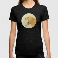 The Lady And The Lion. Womens Fitted Tee Tri-Black SMALL