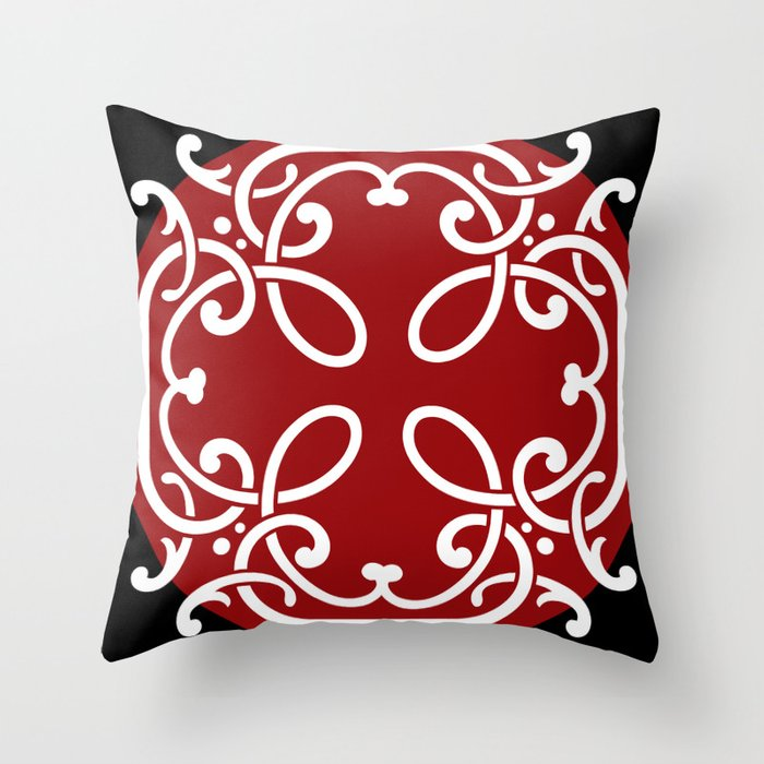 Red Black White Decorative Pillows : Red, White, and Black Throw Pillow by Jacqueline Rankin Society6