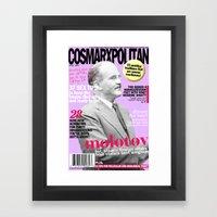 COSMARXPOLITAN, Issue 17 Framed Art Print