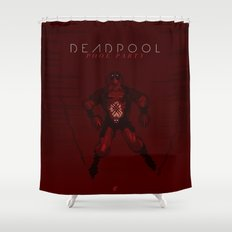 Deadpool - Pool Party Shower Curtain
