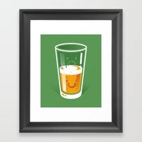 Pessimistic Optimist Framed Art Print