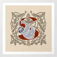 S Is For Sloth Art Print
