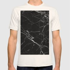Black Marble Mens Fitted Tee Natural SMALL