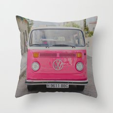 Hot Pink Lady Throw Pillow