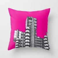 London Town - Lloyds of London Throw Pillow