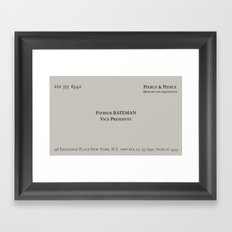 American Psycho - Patrick Bateman Business Card Framed Art Print