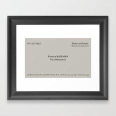 American Psycho - Patrick Bateman Business Card Framed Art Print
