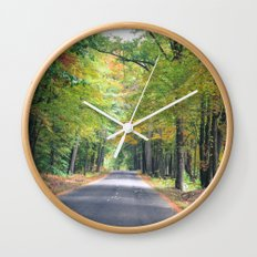 New Beginnings - Fall Colors Wall Clock