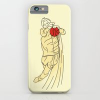 iPhone & iPod Case featuring flying goal keeper by sooe
