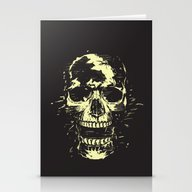 Scream (gold) Stationery Cards