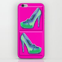 Green In Pink  iPhone & iPod Skin
